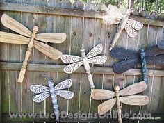 Repurposed table legs dragonflies by young