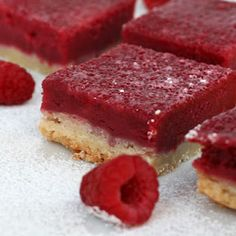 Raspberry and lemon bars