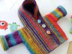 Child Knitting Patterns free knitting sample by Gloria Segura. Child Knitting Patterns Baby Knitting Patterns Supply : free knitting pattern by Gloria Segura. Knitting For Kids, Free Knitting, Knitting Projects, Baby Boy Knitting Patterns Free, Knitting Tutorials, Yarn Projects, Knitting Ideas, Knit Baby Dress, Baby Cardigan