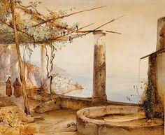 Gigante, Giacinto (1806-1876) - 1836 Amalfi dal Convento dei Cappuccini