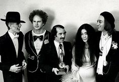 David Bowie, Art Garfunkel, Paul Simon, Yoko & John Lennon at The Grammys, March 1st 1975