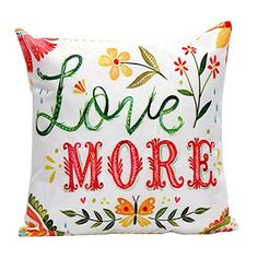 Iuhan Fashion Flower Letters Pillow Case Sofa Waist Throw Cushion Cover Home Decor C >>> Click image for more details. Note: It's an affiliate link to Amazon