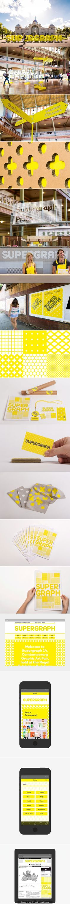 Supergraph identity design, environmental graphics, super graphics, signage
