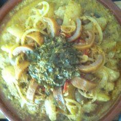 Chicken and chermola targine