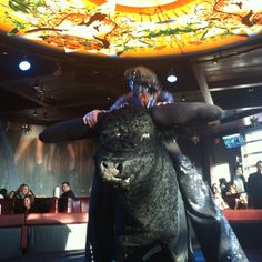 The riding bull at PBR Bar and Grill at grand opening of XFINITY Live!   Photo credit Kory Aversa and www.phillylovesfun.com