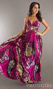 Buy Printed Floor Length Gown at PromGirl