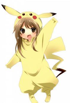 Girl In A Pikachu Costume Pikachu Costume Cute Pikachu