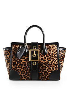 Gucci - Lady Buckle Jaguar Print Top Handle Bag  for Fall 2013 #Gucci #Handbag #AnimalPrint
