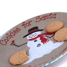Snowman Plate AND Mug Personalized Cookies for by ThePigPen