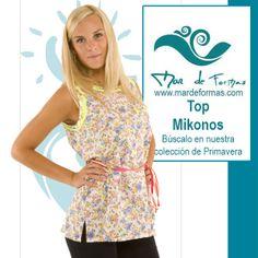 El Top Mikonos Búscalo en nuestra colección de Primavera-Verano http://www.mardeformas.com/ca/13-camiseta-mikonos.html