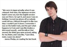 James Phelps, funny harry potter characters