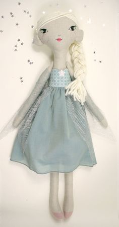 Frozen Ice Princess Cloth doll. Original design, this doll is both beautiful in a child's room and sturdy for play