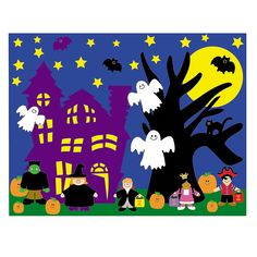 12 Design Your Own Halloween Sticker Scenes - OrientalTrading.com