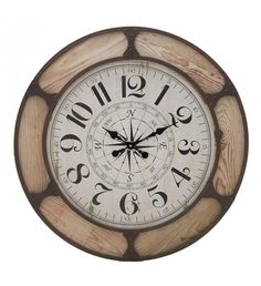 WOODEN WALL CLOCK IN NATURAL_BROWN D80X5