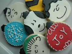 """A Charlie Brown Christmas"" Cookies #ChristmasParty #PartyIdeas #Christmas"
