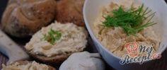 Recept ČESNEKOVÁ pomazánka Cheddar, Potato Salad, Mashed Potatoes, Tacos, Beef, Ethnic Recipes, Gold, Garlic Bread Spread, Eating Raw