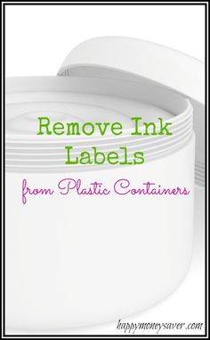 Don't throw your plastic containers away!  Here is an easy and fast way to remove ink labels from plastic containers!