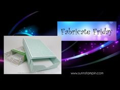 Fabricate Friday – Matchbox made with the Envelope Punch Board | SuNN Stampin'