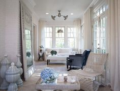 Modern Glam transitional living room by Beckwith Interiors