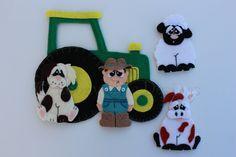 Felt Old Mac Donald Finger Puppet Set Sewing by EbonyShae on Etsy