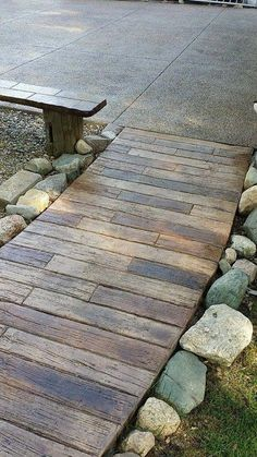 Stamped concrete patio ideas - Take care of the latest trends when dealing with your home hasn\'t become dated. Look at other people\'s decorating ideas. Concrete Patios, Flagstone, Stained Concrete Driveway, Concrete Porch, Concrete Floors, Outdoor Fire, Outdoor Living, Outdoor Decor, Front Yard Landscaping