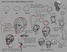 Simple 3/4 Head notes by ~FUNKYMONKEY1945 on deviantART