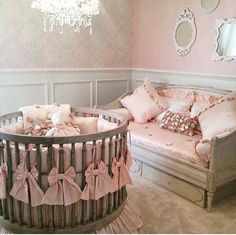 Jun 2019 - Packed with inspiration to create the ultimate round crib nursery including 17 gorgeous nurseries plus, where to get the best cribs and round crib bedding.