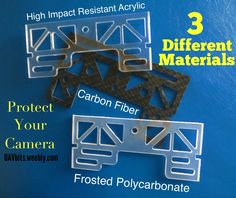 NOW 3 different materials to choose from to protect your camera Camera Guard #DJI #phantom UAVbits.weebly.com