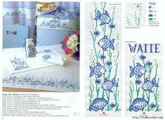 ru / Foto # 59 - vis - Valentina-A - etamin Rico Design, White Crosses, Cross Stitch Animals, Happy Animals, Bargello, Nautical Theme, Cool Patterns, Cross Stitching, Embroidery Stitches