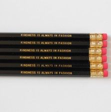 Kindness Engraved Pencils by A Blissful Nest