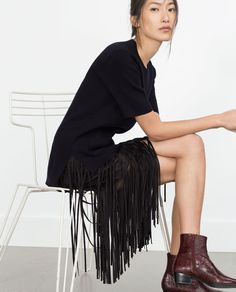 FRINGED SKIRT-Skirts-Woman-COLLECTION AW15 | ZARA United States