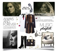"""""""Music Playlist - Adele"""" by nahed-samir ❤ liked on Polyvore featuring Benzara, Gucci, Dot & Bo, MCM, JY Shoes, BLANCHA, Happy Plugs, adele and musicplaylist"""
