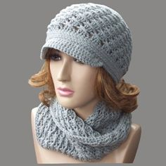 Free patterns for both the hat & cowl    Cross-Over Long DC Cowl