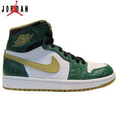 best cheap db768 7fb74 555088-315 Air Jordan 1 Retro High Boston Garden OG Clover Metallic Gold -White