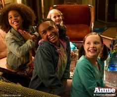 """""""You're never fully dressed without a smile!"""" Annie movie 2014."""