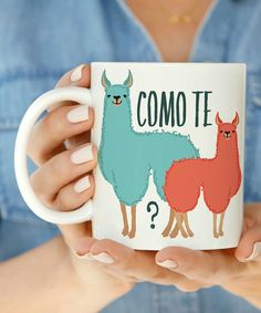 Bring whimsical flair to your drinkware with this mug that showcases a charming, humorous message.  Shipping note: This item is made to order. Allow extra time for your special find to ship.
