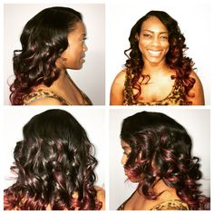 Braidless install with custom colored Luxe Lengths extensions