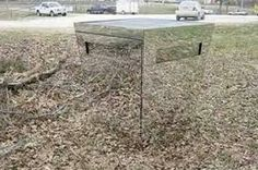 Hunting blind made up of mirrors. Pretty sweet!