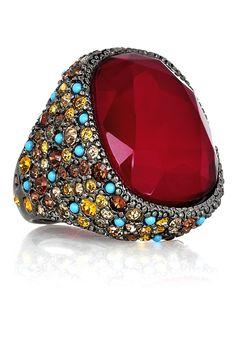 @reganleahy   Kenneth Jay Lane Swarovski crystal-embellished cocktail ring $190