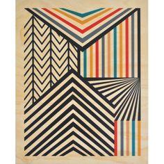'Stripe' Plywood Print