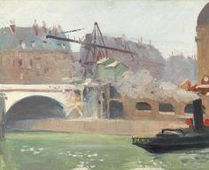 Edward Hopper, Tugboat at Boulevard Saint Michel, 1907