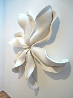 Abstract Mixed Media Sculpture: large floral by mark davies large floral: size by mark davies Ceramic Wall Art, Ceramic Pottery, Ceramic Clay, Wall Sculptures, Sculpture Art, Plaster Sculpture, Plaster Art, Mixed Media Sculpture, Paperclay