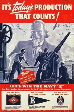 United States Navy Department Bureau of Ordnance: It's Today's Production that Counts!