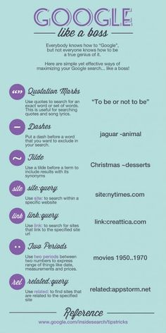 Use Google search in a professional manner [INFOGRAPHIC] #GoogleSearch #research #Tips