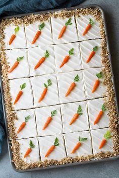 Delicious, Easy-to-Make Recipes with a Sprinkle of Fancy - Cooking Classy Cupcakes, Cupcake Cakes, Carrot Cake Decoration, Sheet Cake Recipes, Carrot Sheet Cake Recipe, Sheet Cakes, Salty Cake, Savoury Cake, Clean Eating Snacks