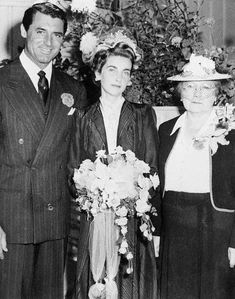 "Heiress Barbara Hutton and Cary Grant Wedding. They were called ""Cash and Cary"""