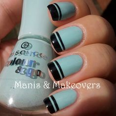 Manis & Makeovers: Preppy French Tips, That's What I Mint! http://manisandmakeovers.blogspot.com/2013/09/preppy-french-tips-thats-what-i-mint.html