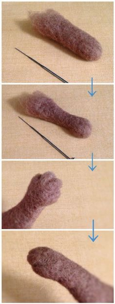『■ Wool three-hair 『■ Wool three-hair heide Höhm heidehhm Nadelfilzen 『■ Wool th Wool Needle Felting, Needle Felting Tutorials, Needle Felted Animals, Wet Felting, Felt Bunny, Felt Cat, Felted Wool Crafts, Felt Fairy, Felt Toys