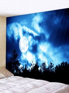 2020 Forest Tapestry Print Best Online For Sale Space Tapestry, Tree Tapestry, Tapestry Bedroom, Inspire Me Home Decor, Hanging Art, Tapestry Wall Hanging, Wall Hangings, Mural Wall Art, Canvas Wall Art