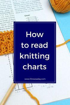 knitting basics How to Read Knitting Charts Knitting Basics, Knitting Help, Knitting Blogs, Knitting Charts, Knitting For Beginners, Loom Knitting, Knitting Stitches, Knitting Needles, Knitting Projects
